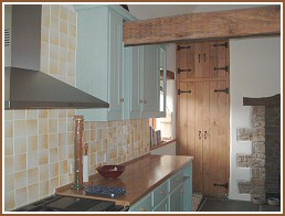 Kitchen worktops in oak