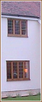 JFJ traditional oak windows in a modern setting