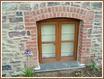 Traditional oak window - exterior